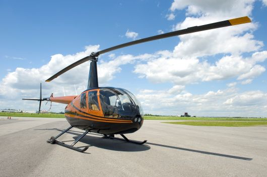Let vrtulníkem nad Prahou
