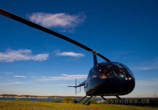 Let vrtulníkem nad Brněnskou přehradou
