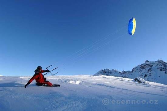 Adrenalinový dárek: Kurz Snowkitingu